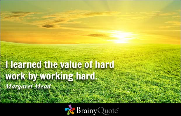 The Value of Hard Work and Visualization